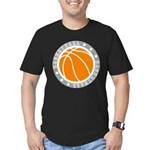 Basketball Men's Fitted T-Shirt (dark)