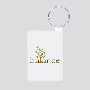 Balance Aluminum Photo Keychain