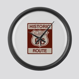 Oklahoma Route 66 Large Wall Clock