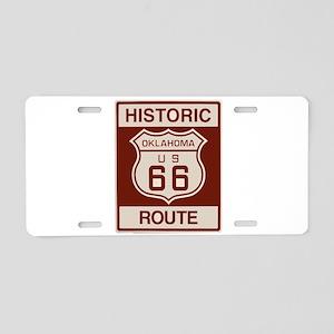 Oklahoma Route 66 Aluminum License Plate