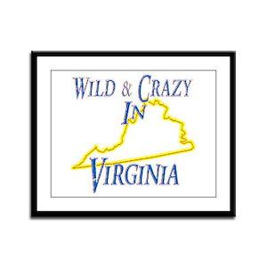 Wild & Crazy in VA Framed Panel Print