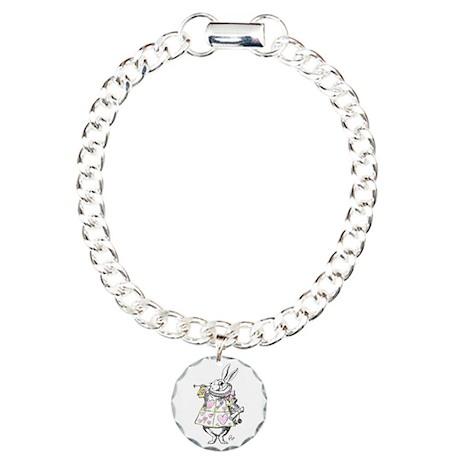 White rabbit Charm Bracelet, One Charm