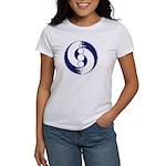 Women's T-shirt with crop circle