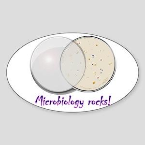 Petri dish Sticker (Oval)