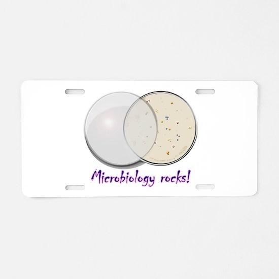Petri dish Aluminum License Plate