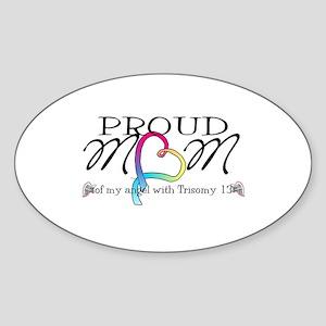 Proud mom of T13 angel Sticker (Oval)