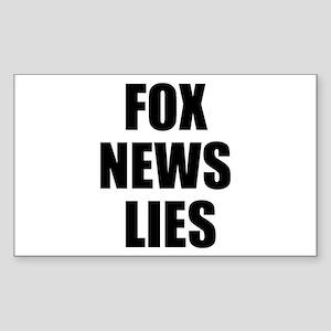 FOX News LIES Sticker (Rectangle)