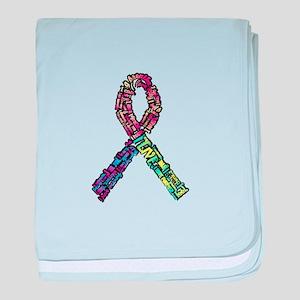 Rainbow Trisomy Ribbon baby blanket