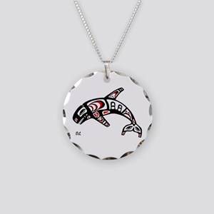 Killer Whale Necklace Circle Charm