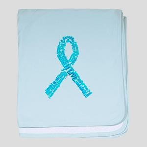 Blue Trisomy ribbon baby blanket