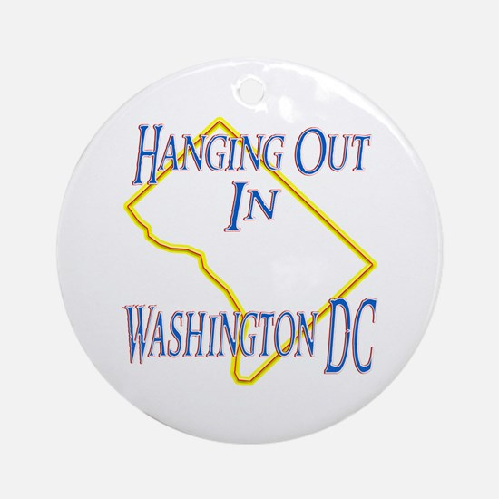 Hanging Out in DC Ornament (Round)
