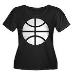 Basketball Women's Plus Size Scoop Neck Dark T-Shi