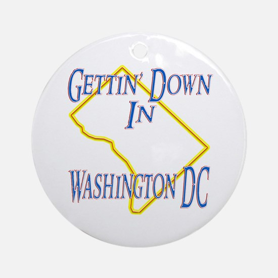Gettin' Down in DC Ornament (Round)