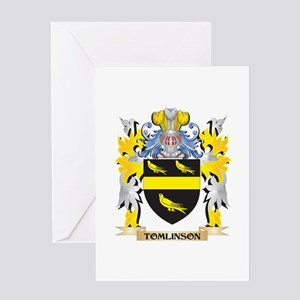 Tomlinson Family Crest - Coat of Ar Greeting Cards