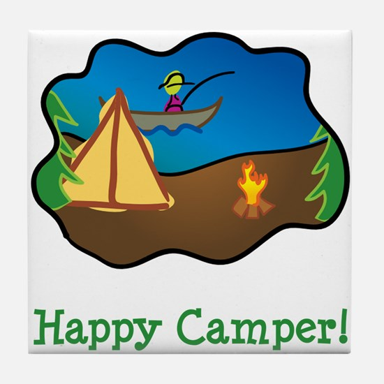 Happy Camper! Tile Coaster