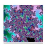 Tile coaster with fractal