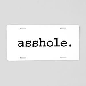 asshole. Aluminum License Plate