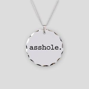 asshole. Necklace Circle Charm