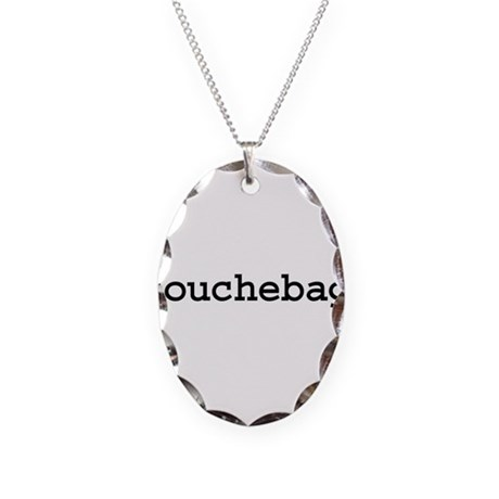 douchebag. Necklace Oval Charm