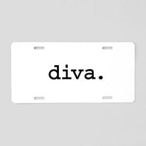 diva. Aluminum License Plate