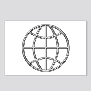 """""""Silver Globe"""" Postcards (Package of 8)"""