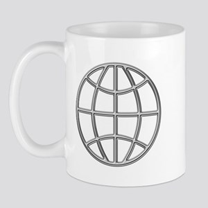 """Silver Globe"" Mug"