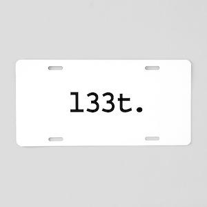 l33t. Aluminum License Plate
