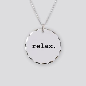 relax. Necklace Circle Charm