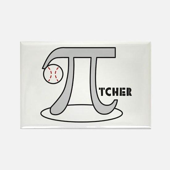 Funny Baseball Pi-tcher Rectangle Magnet