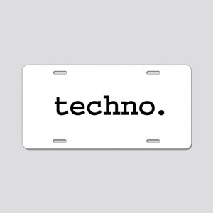 techno. Aluminum License Plate