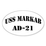 USS MARKAB Sticker (Oval)