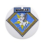 USS MARKAB Ornament (Round)
