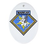 USS MARKAB Ornament (Oval)