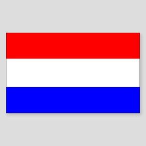 Netherlands Flag Rectangle Sticker