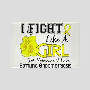 Licensed Fight Like A Girl 15.6 E Rectangle Magnet