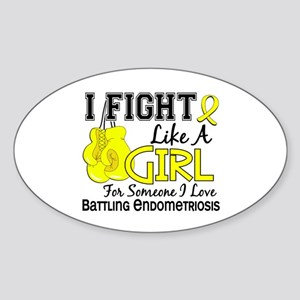 Licensed Fight Like A Girl 15.6 End Sticker (Oval)