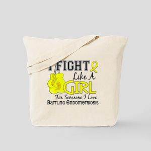 Licensed Fight Like A Girl 15.6 Endometri Tote Bag