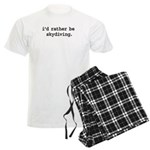 i'd rather be skydiving. Men's Light Pajamas