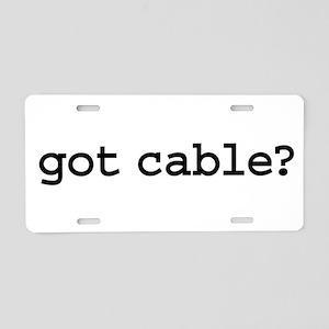 got cable? Aluminum License Plate