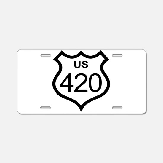 US Highway 420 Aluminum License Plate