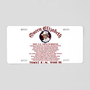 Queen Elizabeth 2007 US Tour Aluminum License Plat