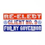 Re-Elect Client No. 9 Aluminum License Plate