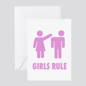 Girls Rule! Greeting Card