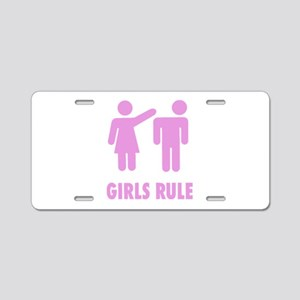 Girls Rule! Aluminum License Plate