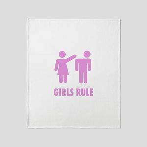 Girls Rule! Throw Blanket
