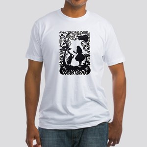 Alice in Wonderland Silhouette Fitted T-Shirt