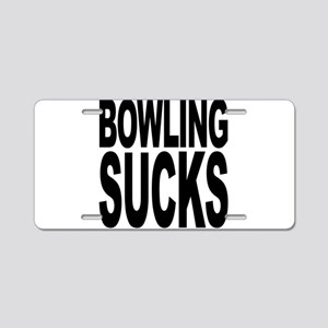Bowling Sucks Aluminum License Plate