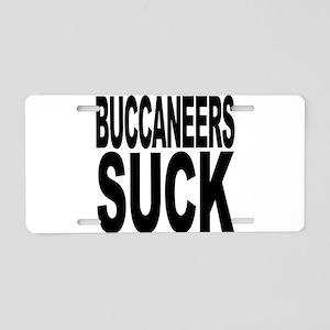 Buccaneers Suck Aluminum License Plate