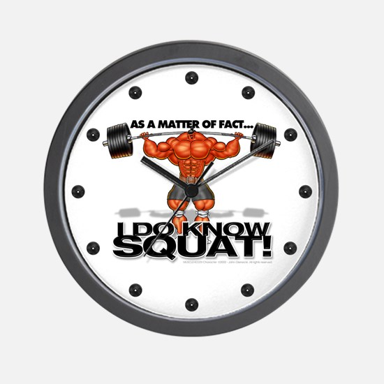 I DO KNOW SQUAT! - Wall Clock