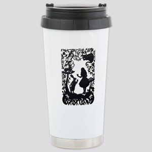 Alice in Wonderla 16 oz Stainless Steel Travel Mug